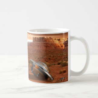 UFO Crash in Desert with Alien Fatality Mug