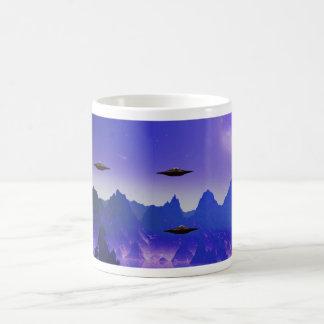 UFO flying object in space Coffee Mug