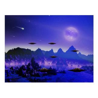 UFO flying object in space Postcard
