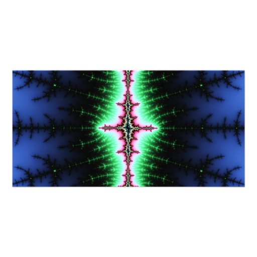 UFO Fractal Abstract Design Picture Card