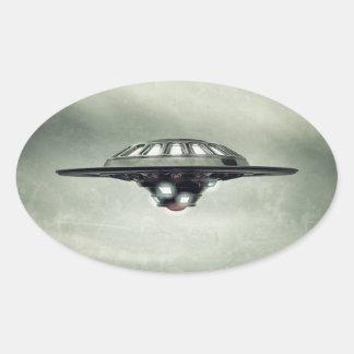 UFO Grunge Stickers