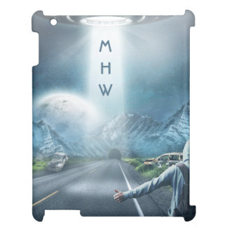UFO Hitchhiker custom monogram device cases Case For The iPad 2 3 4