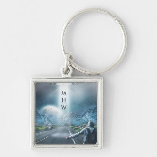 UFO Hitchhiker custom monogram key chains