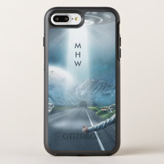 UFO Hitchhiker custom monogram phone cases