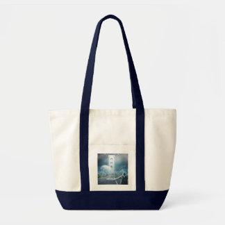 UFO Hitchhiker custom monogram tote bags