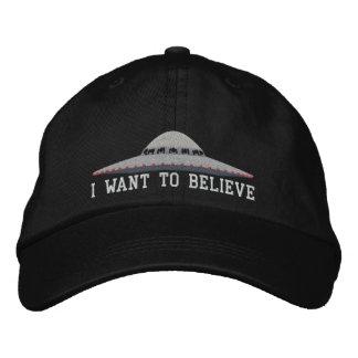 UFO I WANT TO BELIEVE BASEBALL HAT