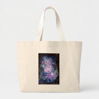 UFO in space artwork Large Tote Bag