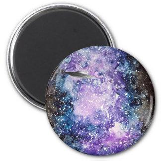 UFO in space artwork Magnet