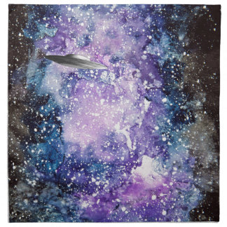 UFO in space artwork Napkin