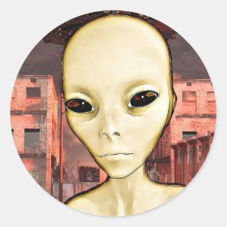 UFO Invasion Alien Greys Stickers