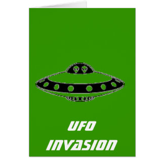 UFO INVASION! GREETING CARD