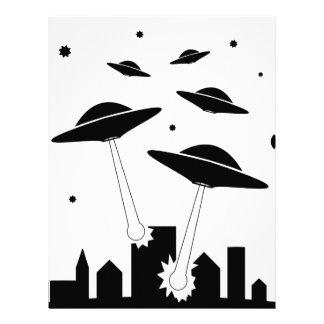 UFO Invasion Letterhead