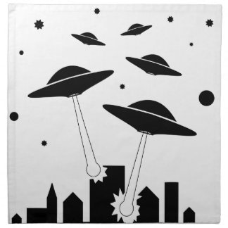 UFO Invasion Napkin