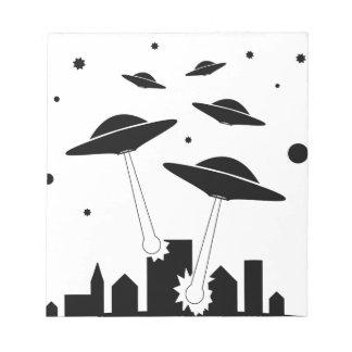 UFO Invasion Notepad