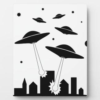 UFO Invasion Plaque
