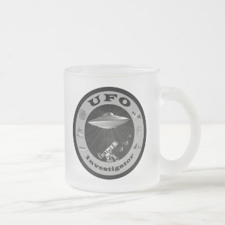 UFO Investigator Frosted Coffee Mug
