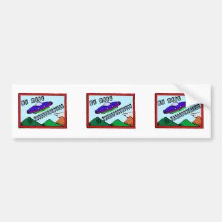 UFO Is My Mode Of Transportation Bumper Sticker