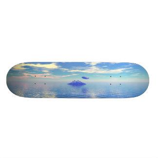 UFO Island - Retro Skate Board