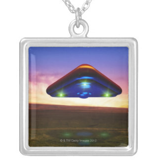 UFO Lights Silver Plated Necklace