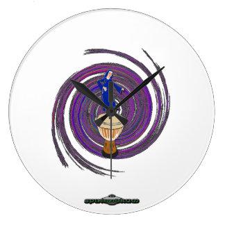 UFO Logo / Spin Nun Drum Logo Wall Clock