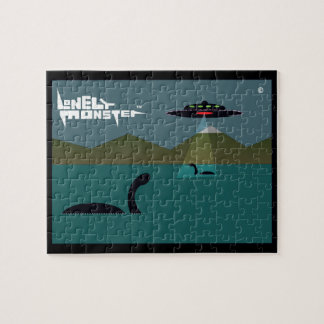 UFO Lonely Monster Jigsaw Puzzle