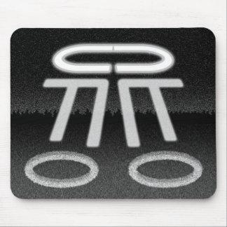 UFO Making Crop Circles Puzzle Mousepad