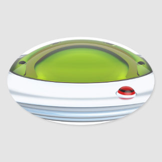 UFO OVAL STICKER