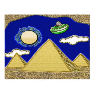 UFO Over Egypt Postcard