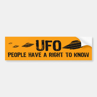 UFO People have a right to know Bumper Sticker