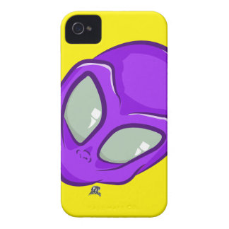 UFO Purple Alien Martian Head Cute iPhone 4 Case