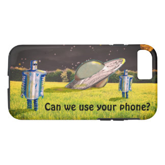 UFO ROBOTS CRASH by Jetpackcorps Case-Mate iPhone Case