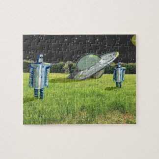 UFO ROBOTS CRASH by Jetpackcorps Jigsaw Puzzle