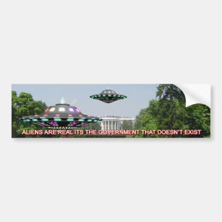 UFO s on the whitehouse Lawn Bumper Sticker