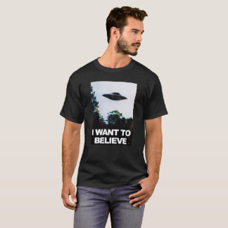 UFO Shirt - I Want To Believe Alien UFO Tee Shirt