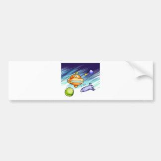 UFO Signpost Bumper Sticker