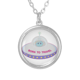 UFO SILVER PLATED NECKLACE