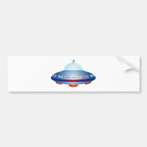 UFO Spaceship Bumper Stickers