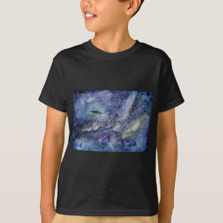 UFO spaceship in space T-Shirt