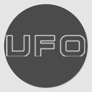 ufo test classic round sticker