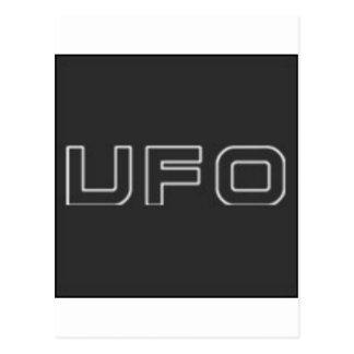 ufo test postcard