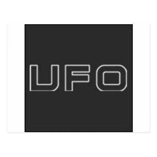 ufo test postcards