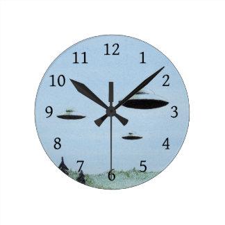 UFO Trio Round Clock