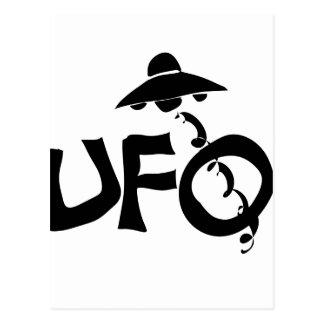 ufo unidentified flying object postcard