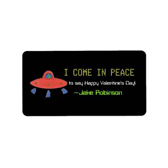 UFO Valentine sticker