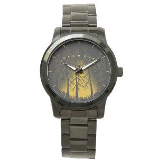 UFO Watch Cool UFO w. Owl Wrist Watches