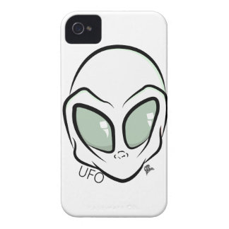 UFO White Galactic Martian Alien Head iPhone 4 Cover