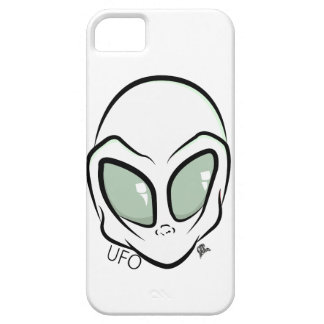 UFO White Galactic Martian Alien Head iPhone 5 Cover