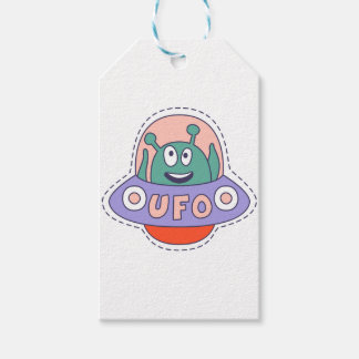 UFO With Alien Gift Tags