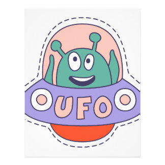 UFO With Alien Letterhead