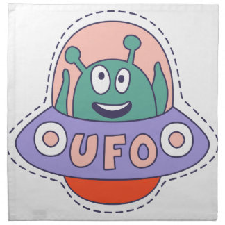 UFO With Alien Napkin